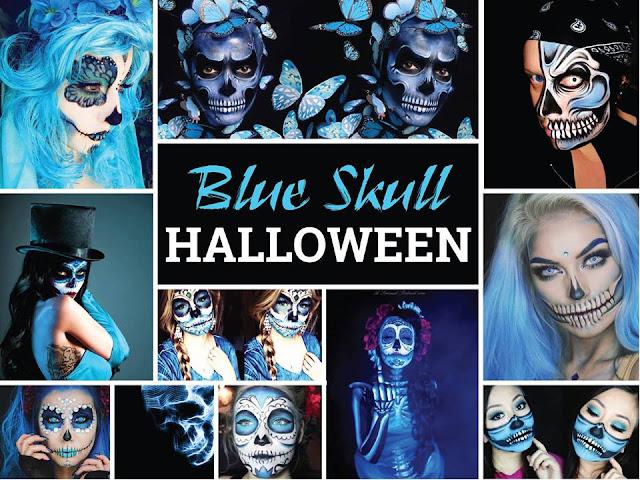 Blue Skull Halloween - A La Carte Da Nang Beach