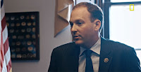 "An episode of the documentary series ""Years of Living Dangerously,"" which focuses on global warming, features Rep. Lee Zeldin (R-N.Y.) meeting with climate activists. (Credit: National Geographic/YouTube) Click to Enlarge."