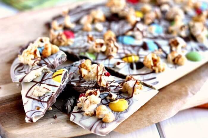 Chocolate Popcorn Bark