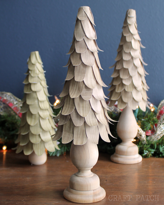 Wood Petal Christmas Cone Tree