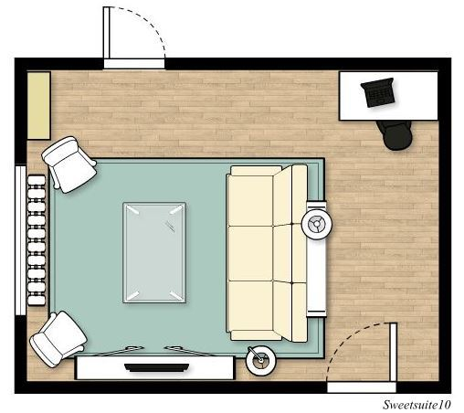 Livingroom layout option 4
