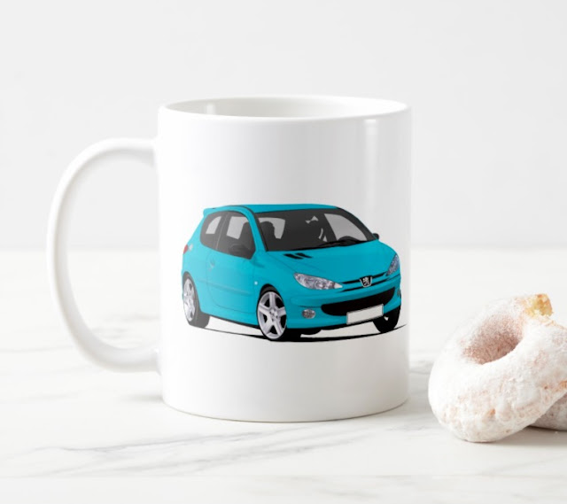 Peugeot 206 GTi  RC printed coffee mug