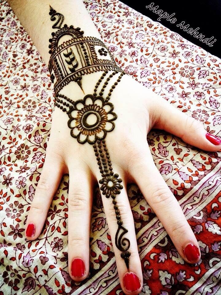 Beautiful Jewellery Henna Designs For Hands