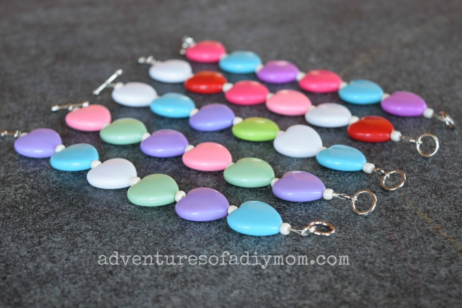 Kids Heart Valentines Bracelet