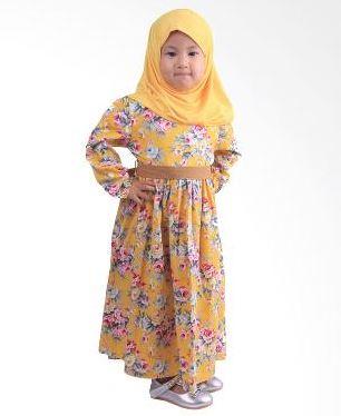 Baju Muslim Anak Perempuan umur 3 tahun