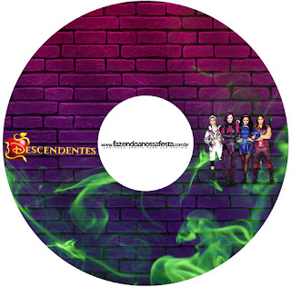 Etiquetas de Fiesta de Descencientes para CD's.