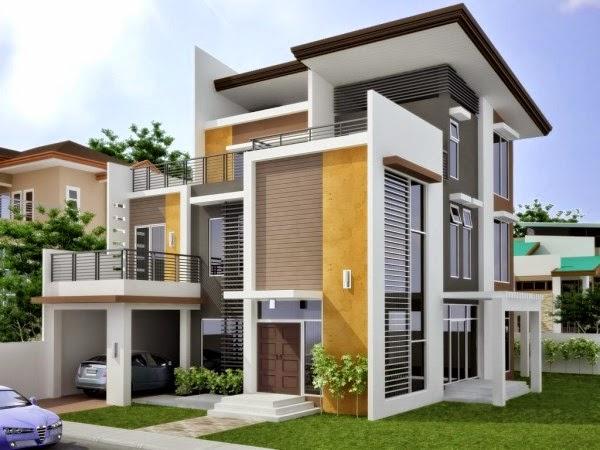 Rumah Minimalis Modern model terbaru 3 lantai
