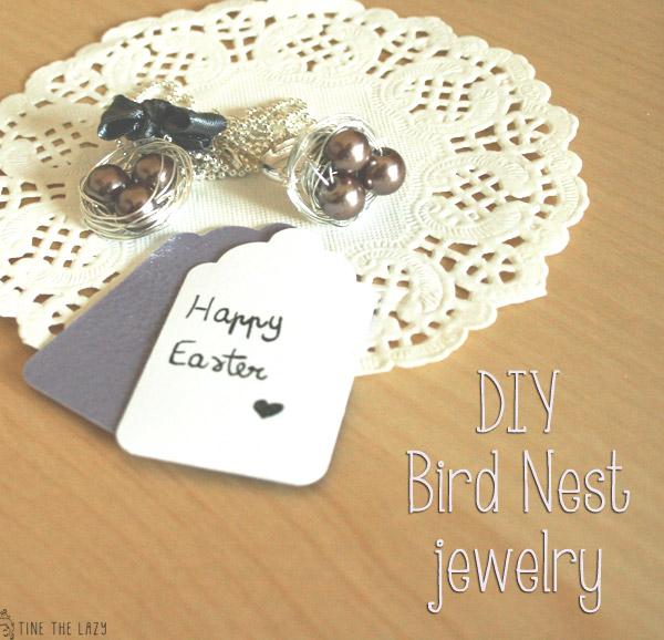DIY gioielli 'bird nest'