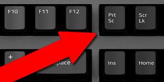 شكل زر print screen فى بعض أنواع لوحة المفاتيح