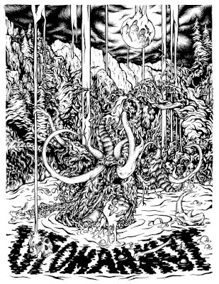 Ufomammut poster ink drawing