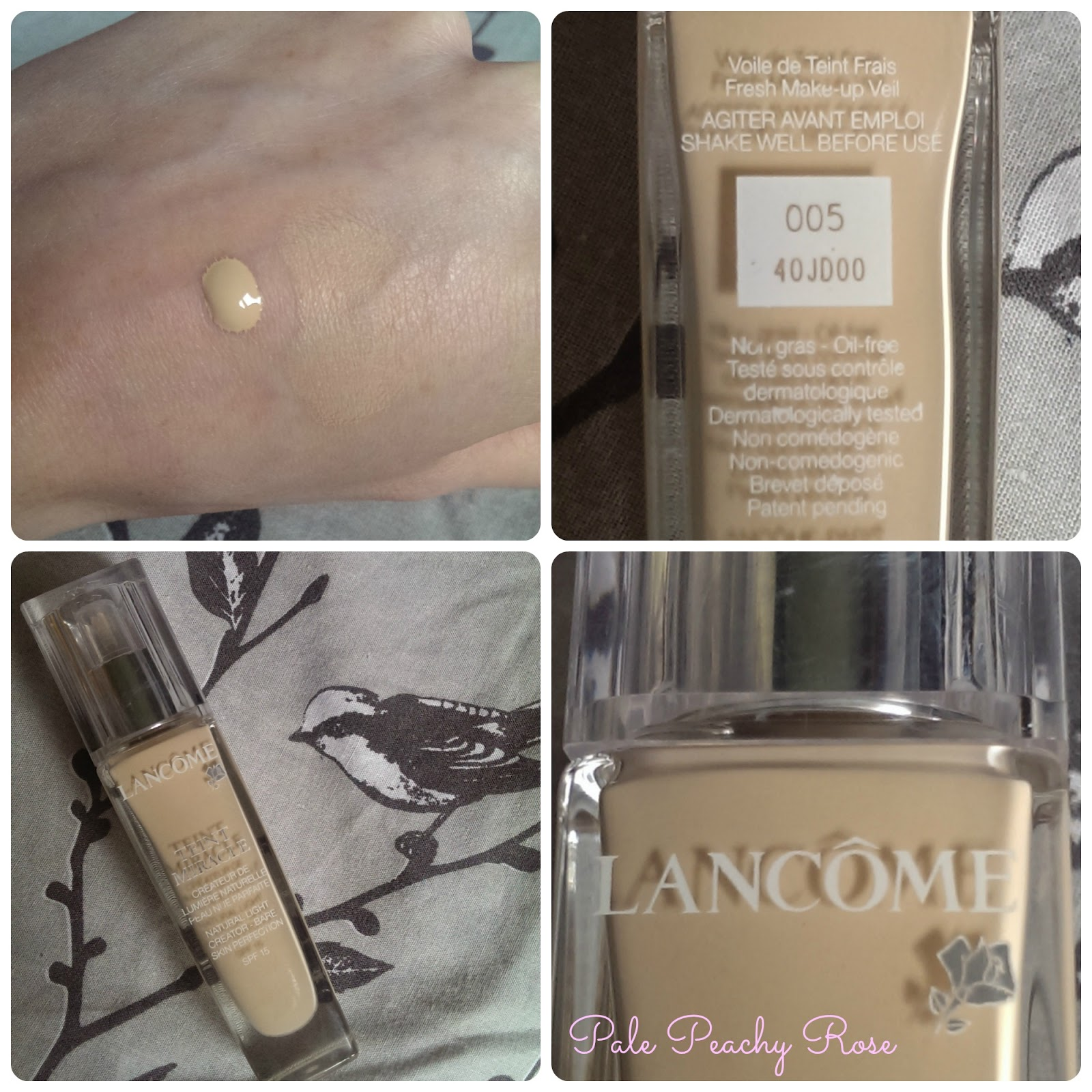 e42f2ce8934 Pale Peachy Rose: Lancome Teint Miracle Foundation