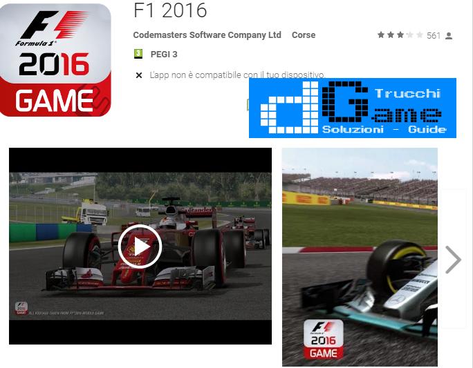 Trucchi F1 2016 Mod Apk Android v0.1.6
