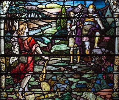 Imagem de Davi e Golias, vitral, #1