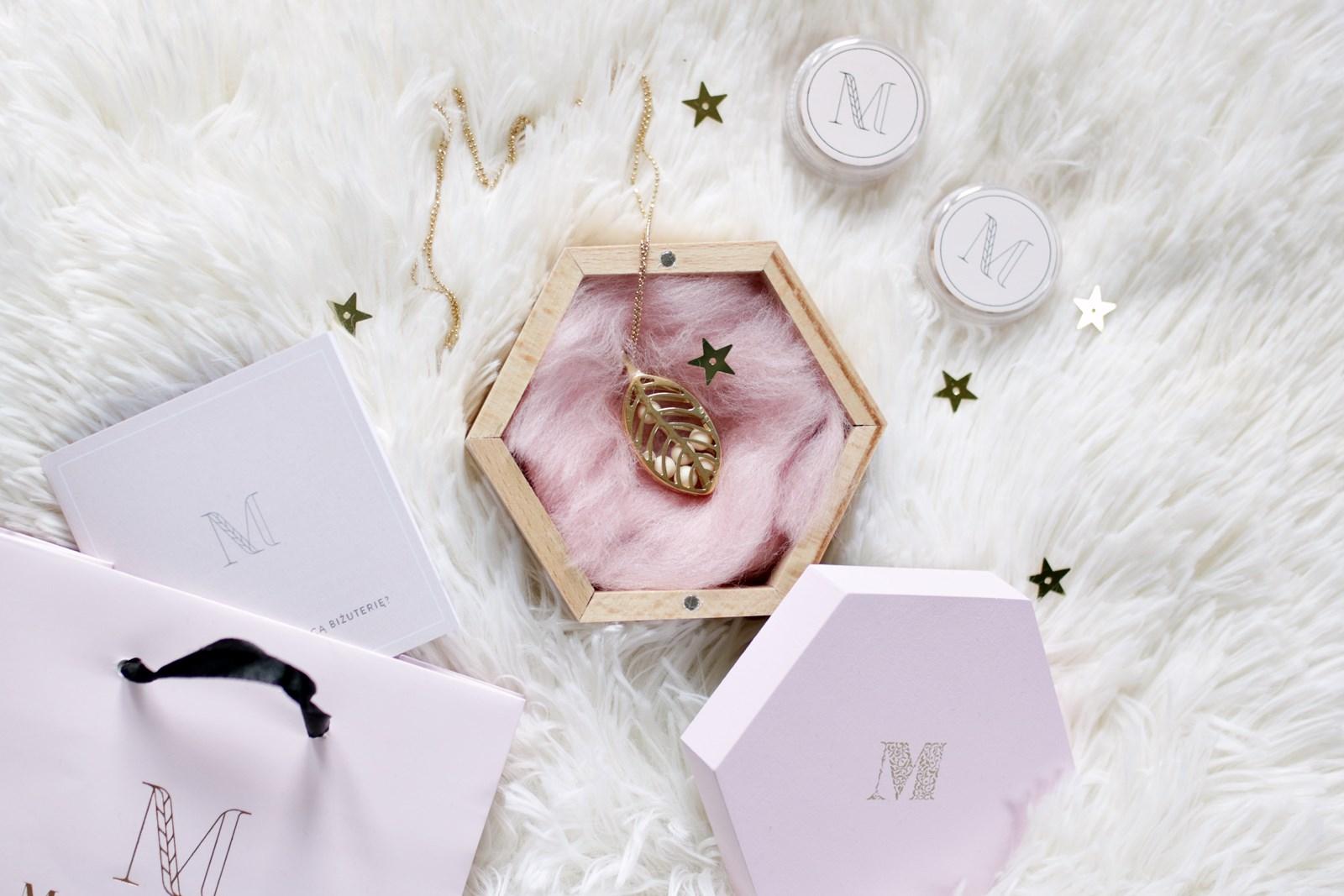 pachnąca biżuteria Messh - naszyjnik Leaf