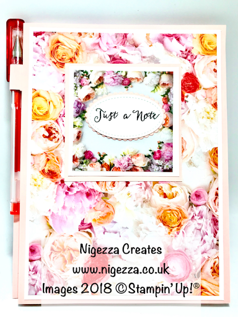 Craft Fair Idea: A5 Covered Note Pad & Pen Nigezza Creates