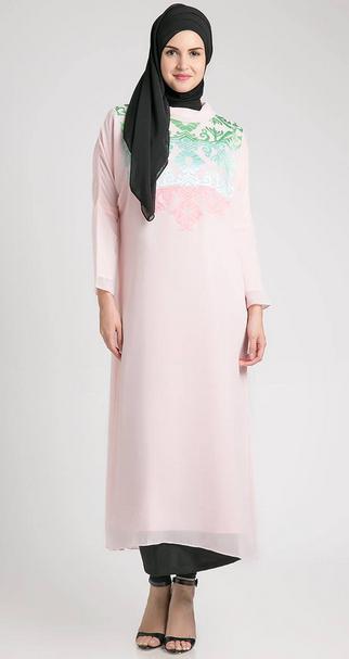 Desain Baju Hamil Muslim Lebaran Terbaru