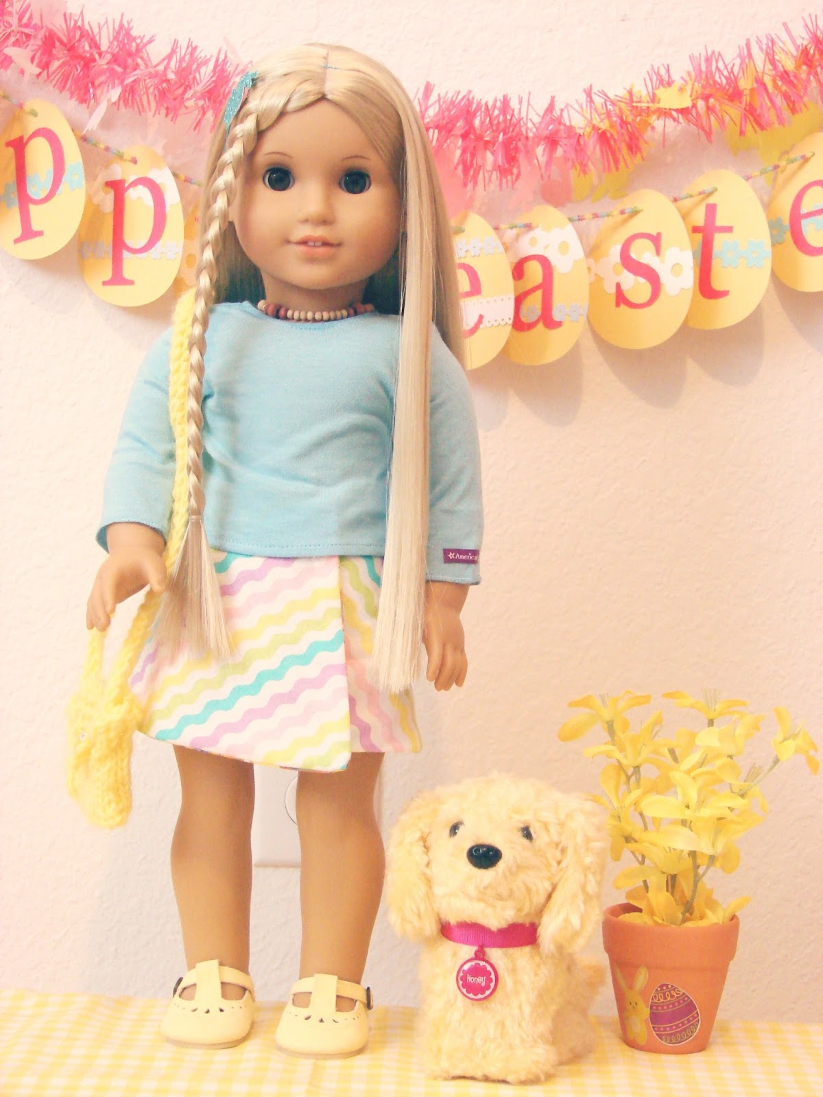 american girl doll play julie 39 s easter attire. Black Bedroom Furniture Sets. Home Design Ideas