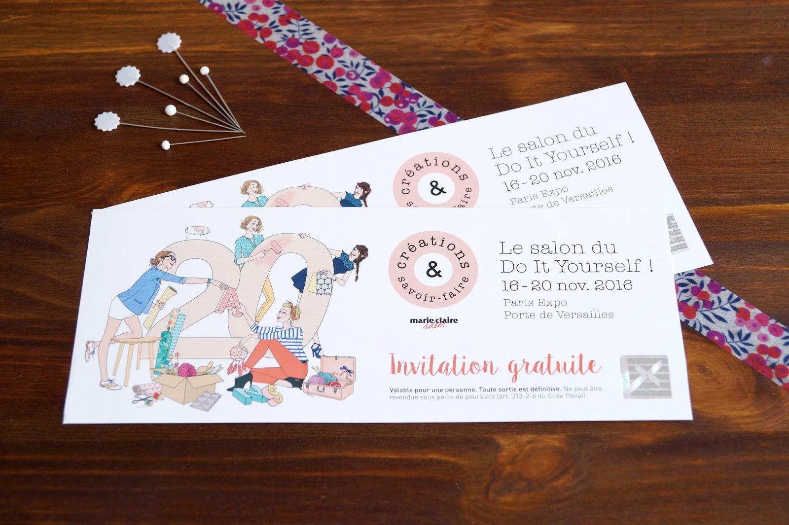 Christelle beneytout le blog cr ations savoir faire - Salon creations savoir faire invitation ...