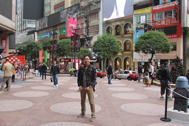 Renz Cheng in Times Square, Hong Kong