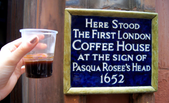 first London coffee house blue plaque