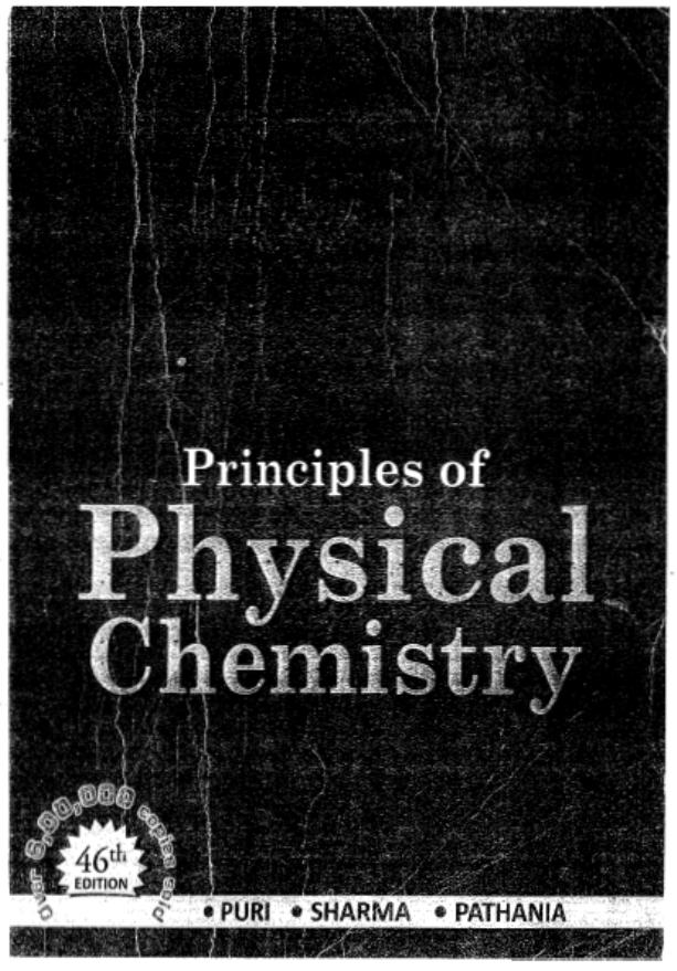 Physical Chemistry By Puri Sharma Pathania PDF Book