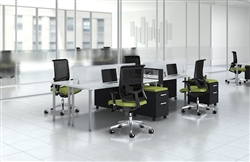 open concept office furniture for group collaborating