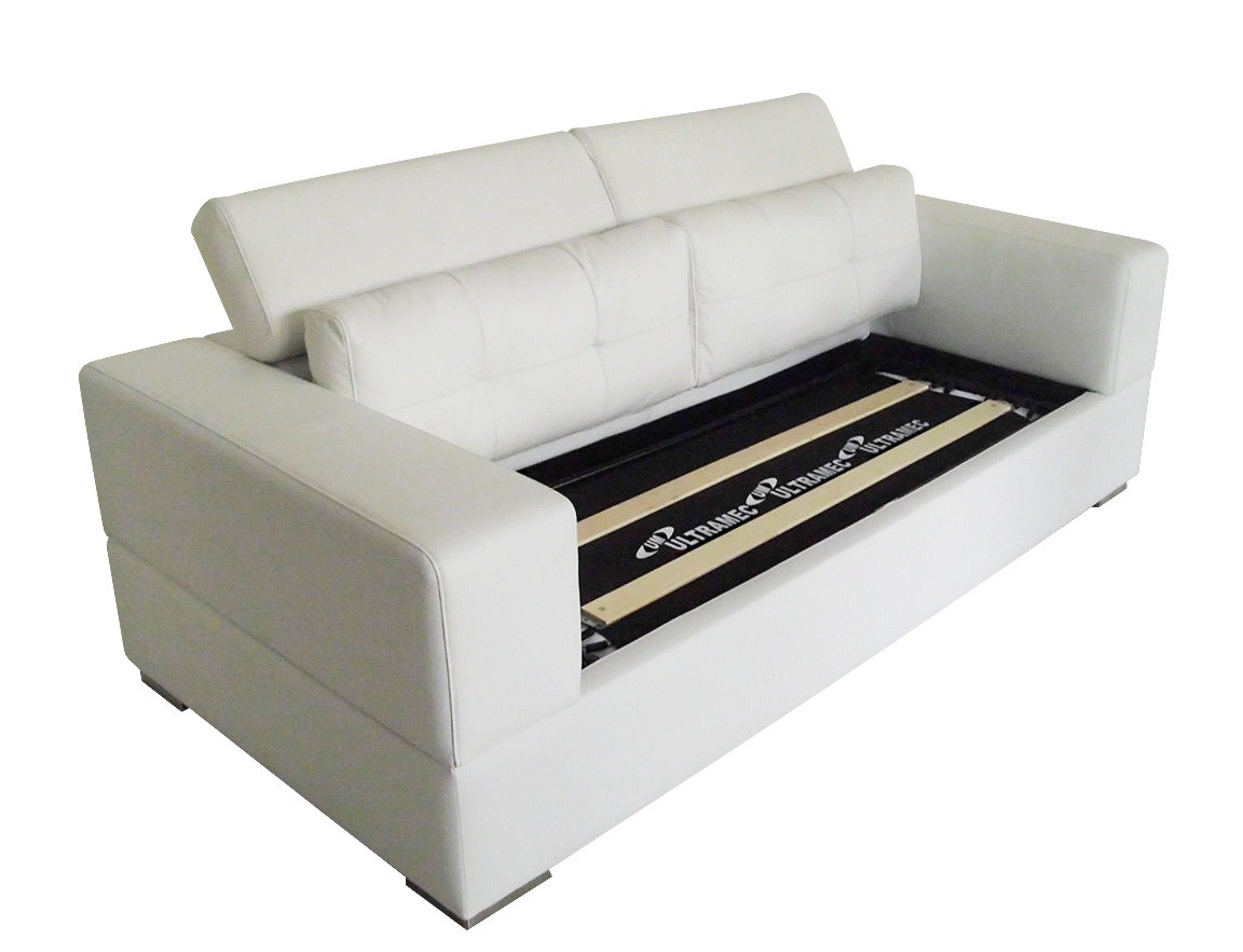 leather sofa bed pull out corner garden furniture cover click clack chair modern