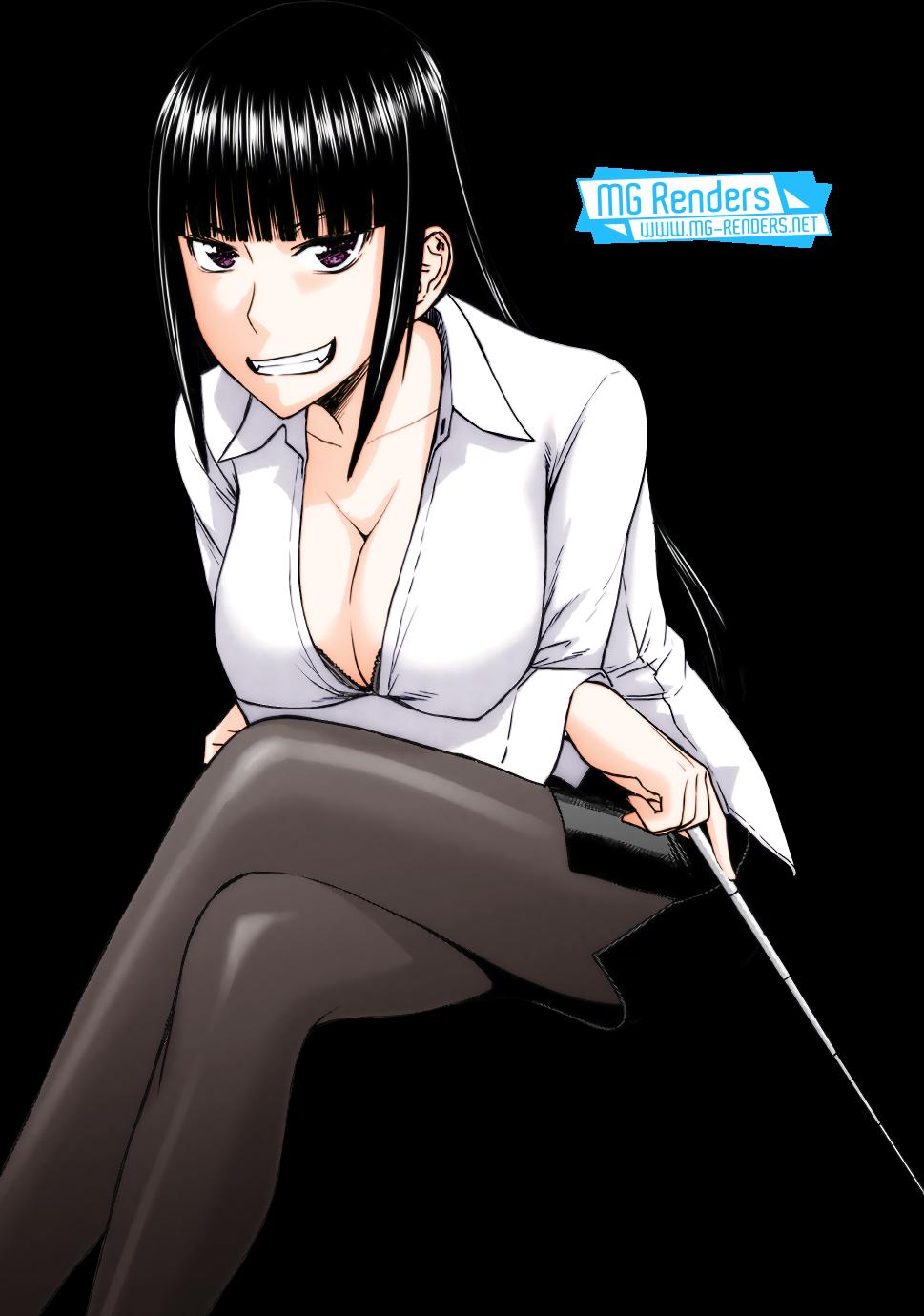 Tags: Anime, Render,  Collared shirt,  Crossed Legs,  Inomaru,  Knees,  Kurozumi Ayane,  Skirt,  Tama Kick, PNG, Image, Picture
