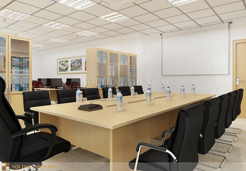 Thiết kế thi công nội thất phòng họp đơn giản
