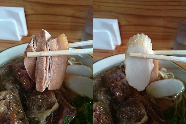 三枚肉とかまぼこの写真
