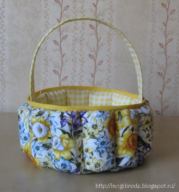 корзинка текстильная