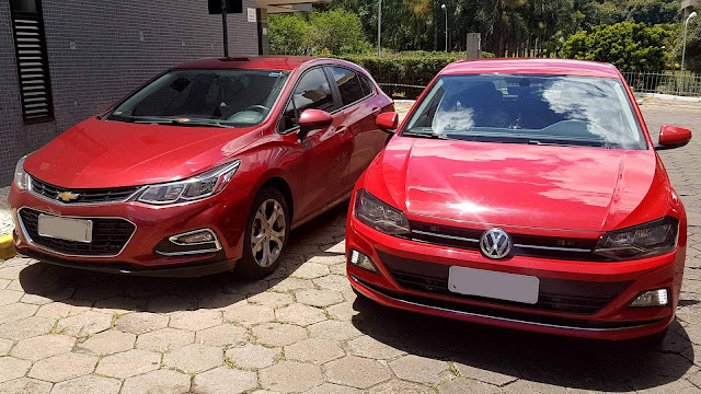 Chevrolet Cruze Hatch x Volkswagen Polo