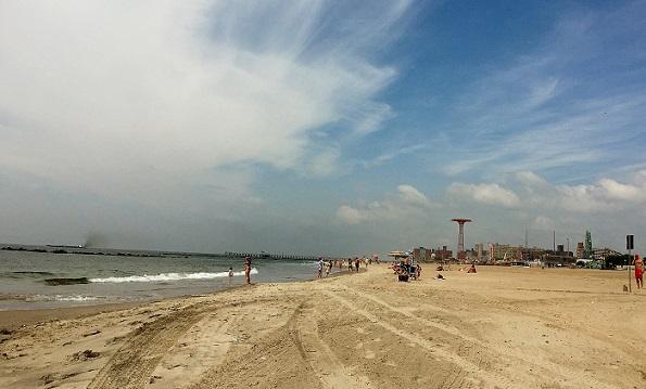 Coney Island beach New York