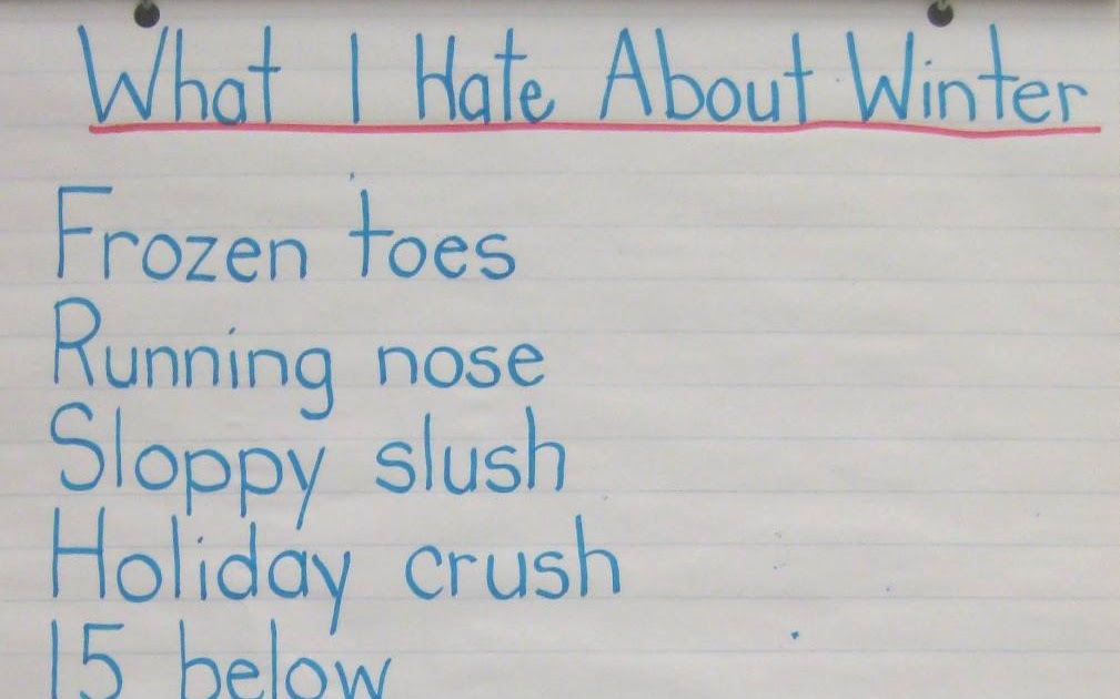 I Hate The Way Poem: Ms. Brown's Classroom: What I Hate About Winter