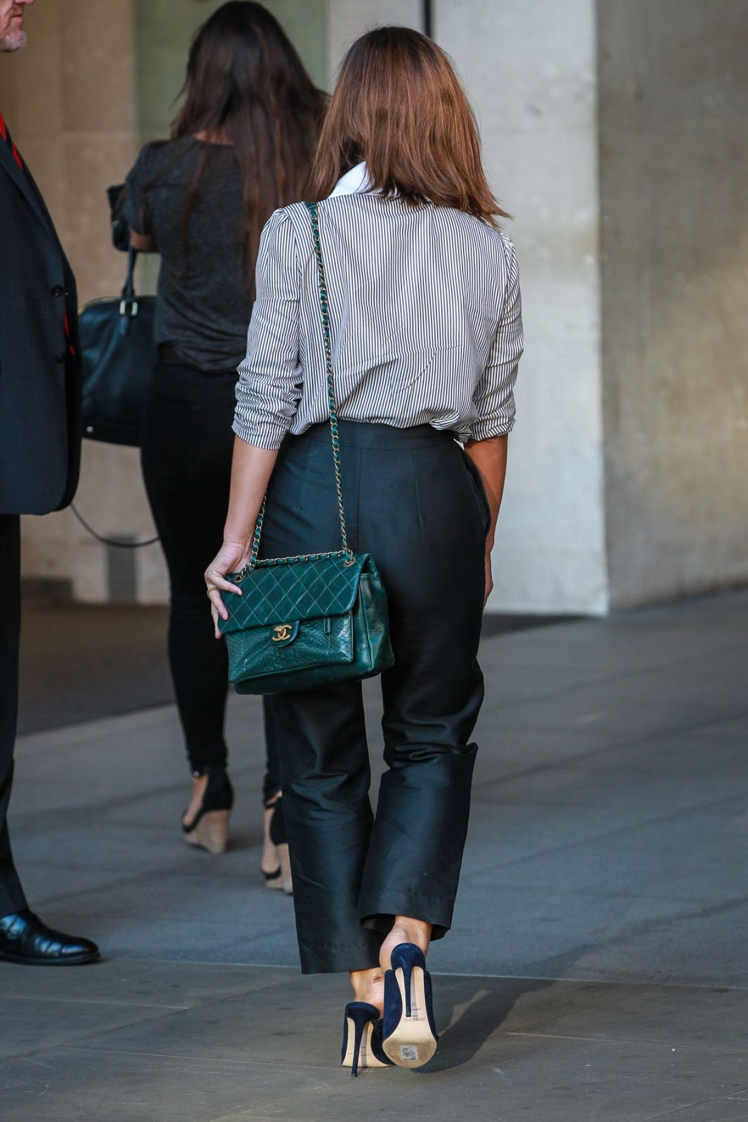 Jenna Louise-coleman leaves BBC studios in london 2016