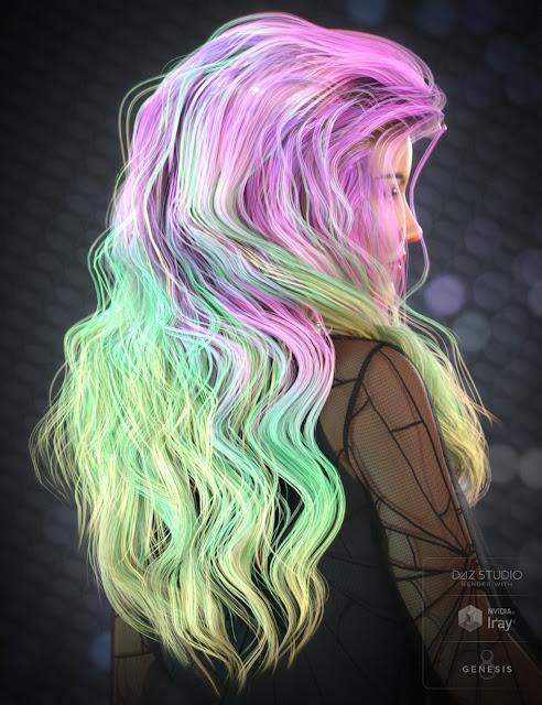 Charli Hair for Genesis 3 and Genesis 8 Female