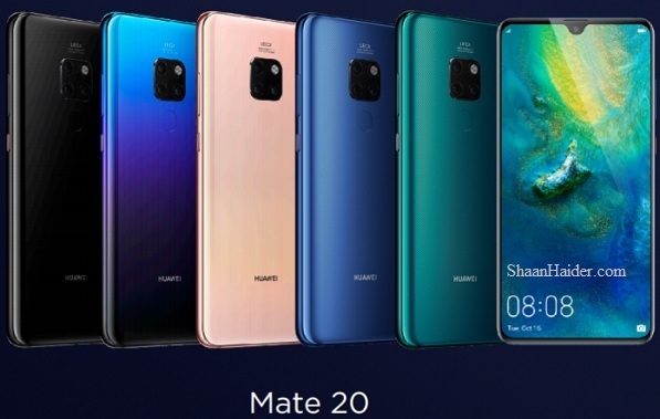 Huawei Mate 20 and Huawei Mate 20 Pro : Full Hardware Specs, Features, Prices and Availability