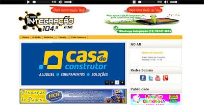 Site - Rádio FM Integração