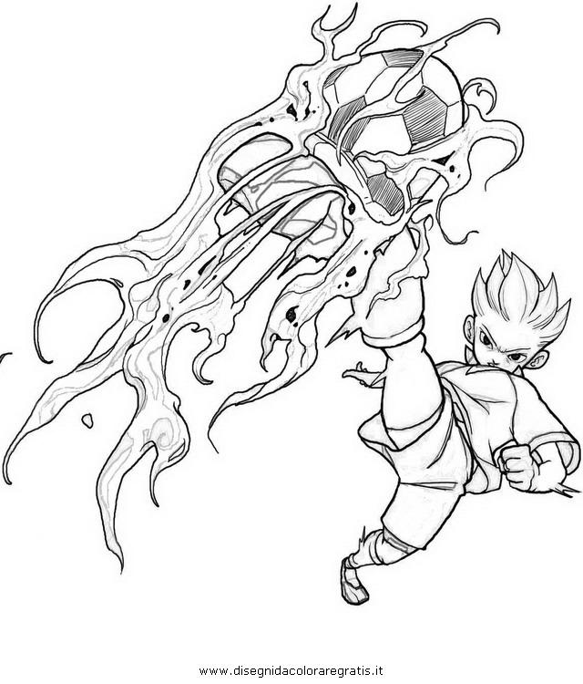Desenhos do super onze para colorir - Coloriage de inazuma eleven ...