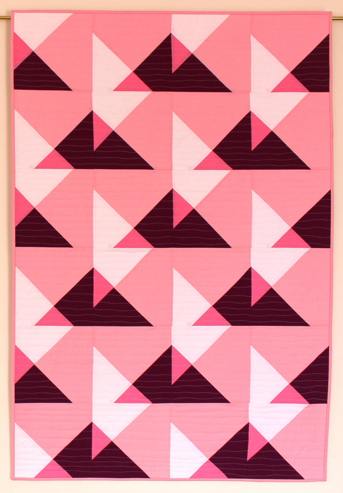 Selvage Blog: Translucent Triangles Quilt