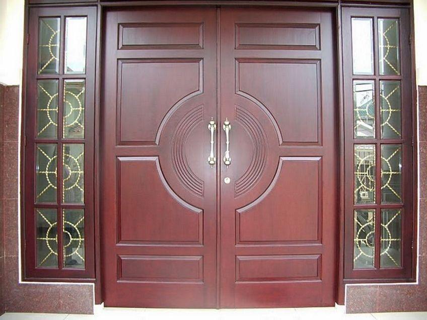 pintu double kayu 2
