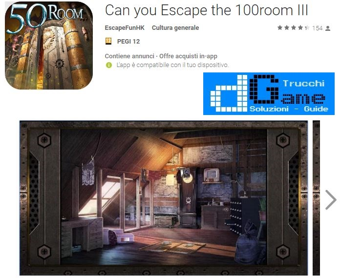 Soluzioni Can you Escape the 100 room III