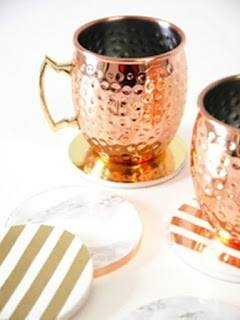 Metallic foil DIY coasters