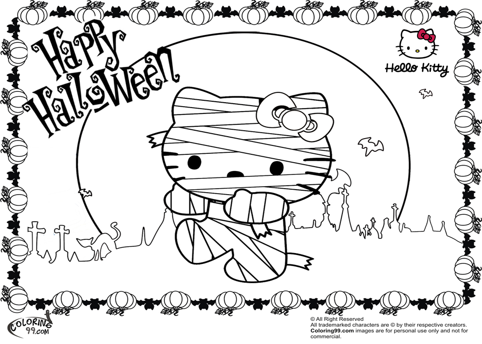 This adorably spooky coloring book comes with so many different pages to color! Hello Kitty Halloween Coloring Pages Minister Coloring