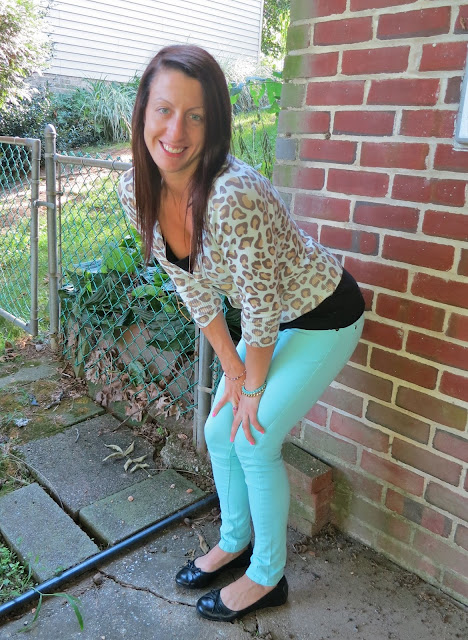 Mint Pants leopard top outfit