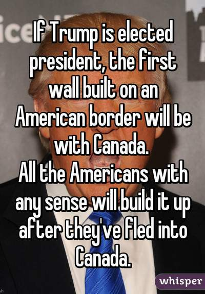 Trump Canadian Wall Whisper