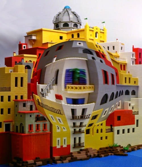 11-Balcony-Andrew-Lipson-Surreal-M-C-Escher-v-Lego-in-Drawing-v-Sculpture-www-designstack-co