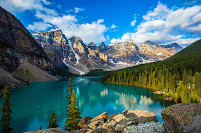 Banff  National Park and Rock Mountains in Canada