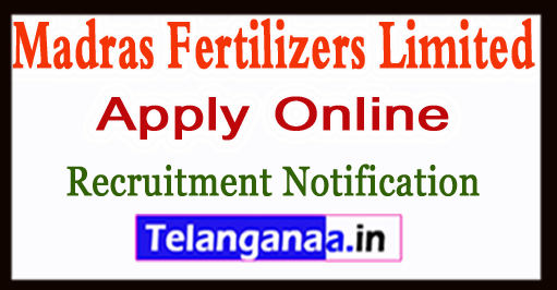 MFL Madras Fertilizers Limited Recruitment Notification 2017 Apply