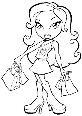 bratz the group coloring pages - photo#19